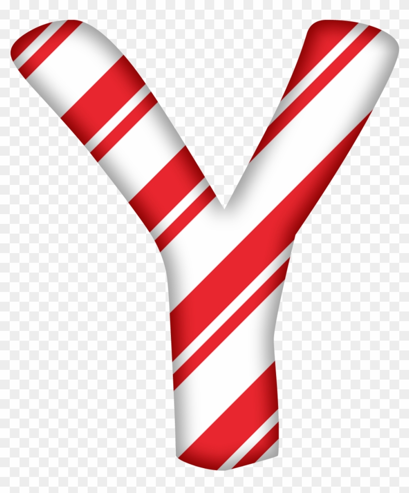 Clipart Letters Candy Cane.