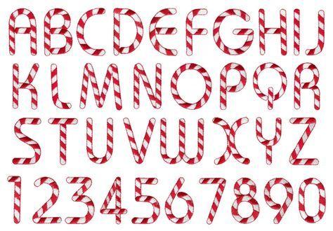 Candyland Font Alphabet Cane Letters Printables #z00jH6.