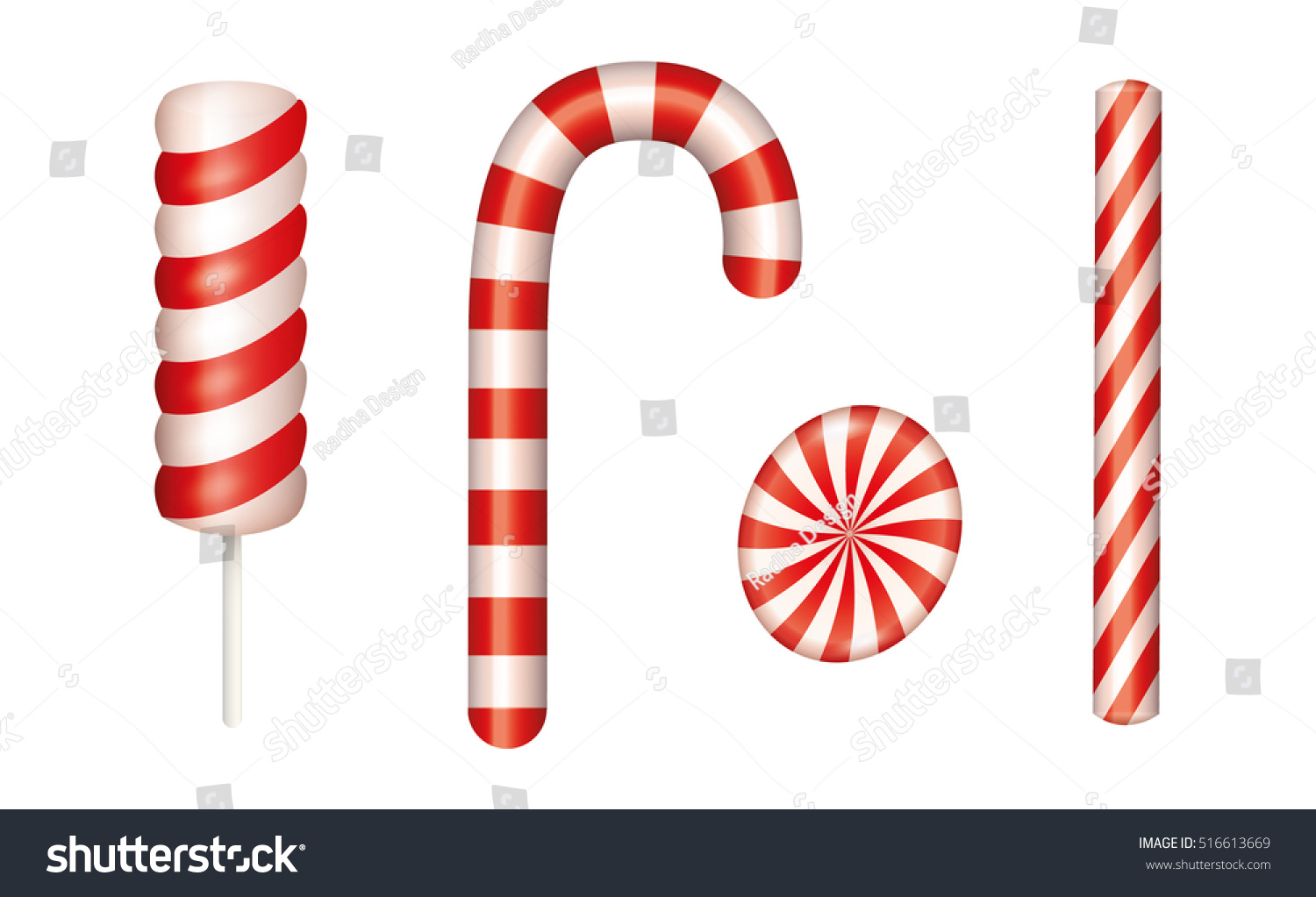Candy Cane Stick Clipart.