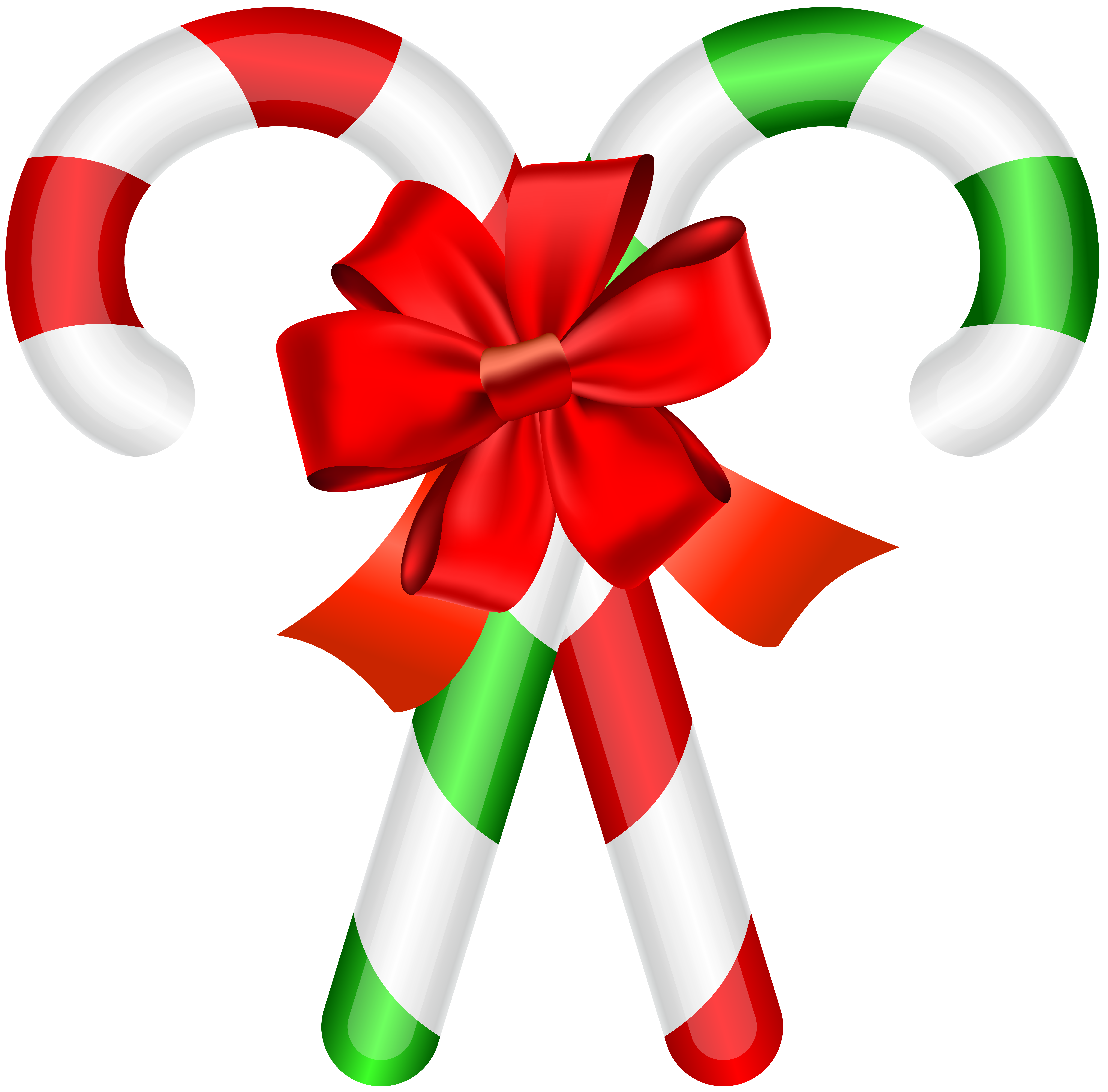 Christmas Candy Canes PNG Clip Art Image.