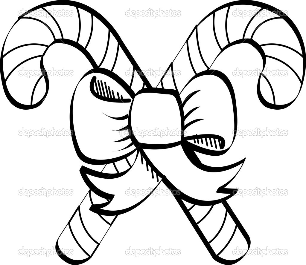 Candy cane clip art — Stock Vector © ClipArtGuy #17247181.