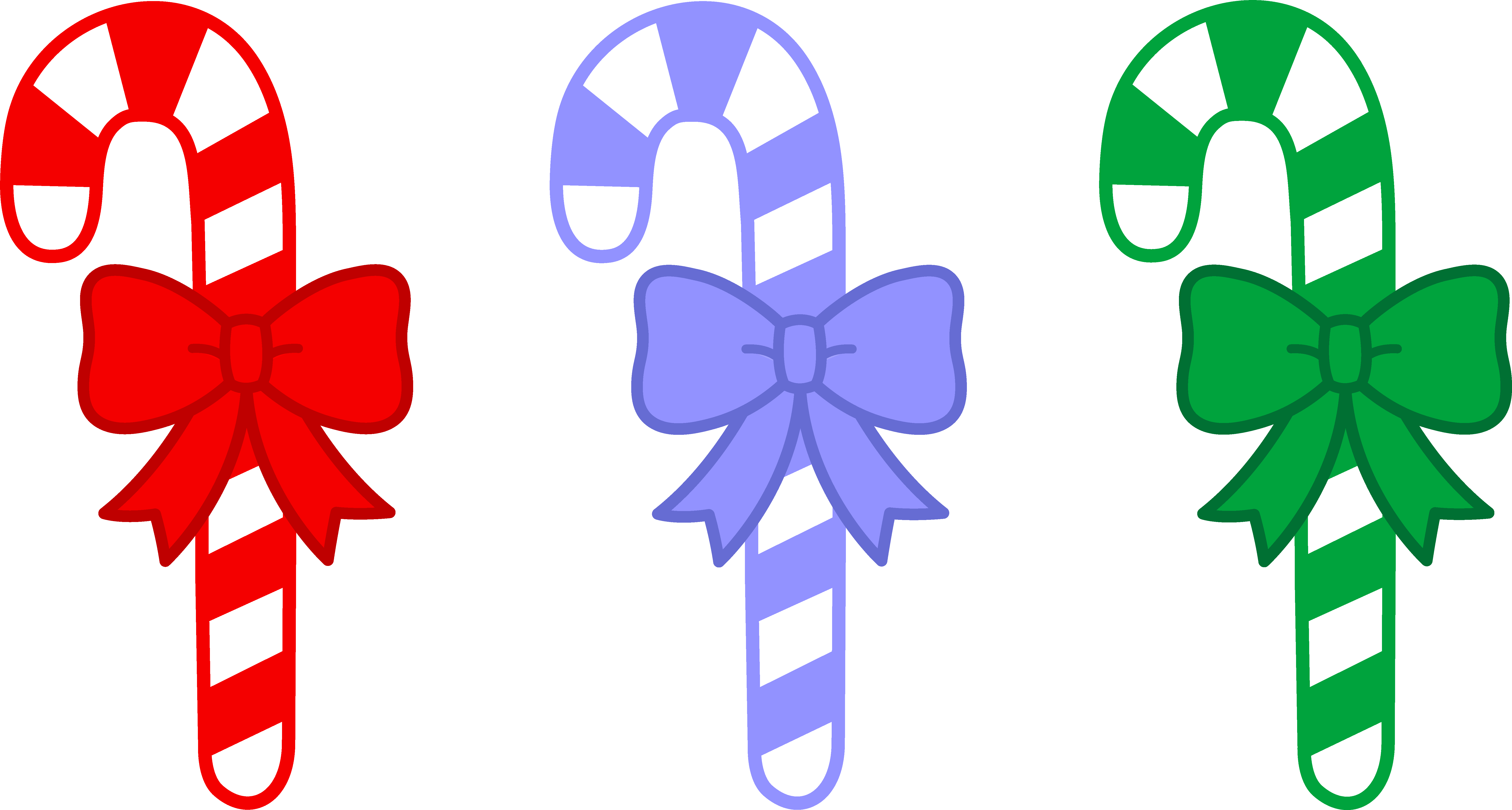 Free christmas clipart candy canes.