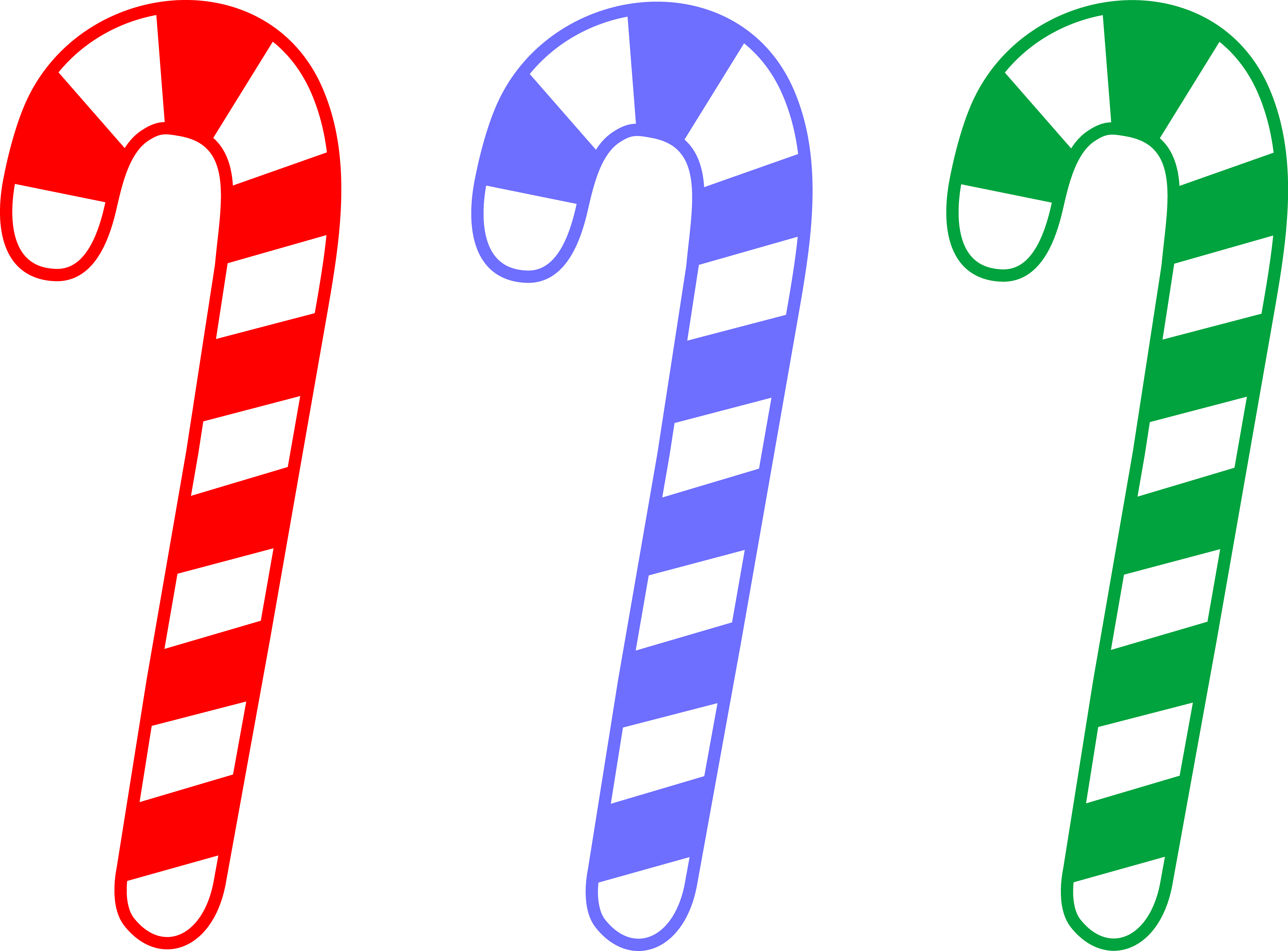 Christmas candy canes clipart.