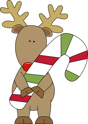 Candy Cane Reindeer Clipart.