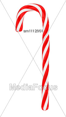 Stock Photo Traditional Christmas Candy Cane Vertical.