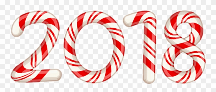 December Clipart Candy Cane.