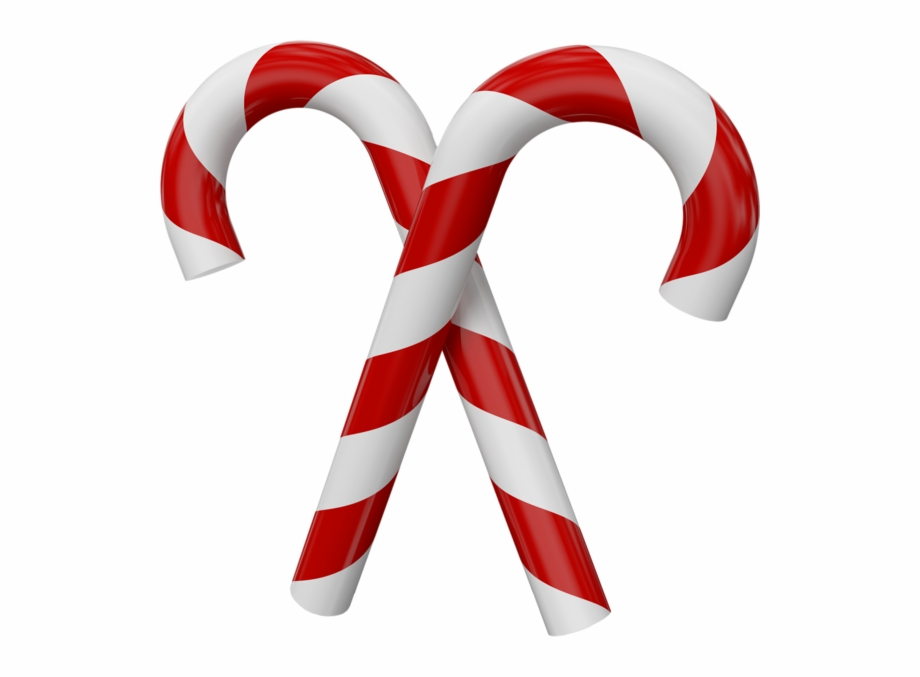 Free Large Transparent Christmas Candy Canes.