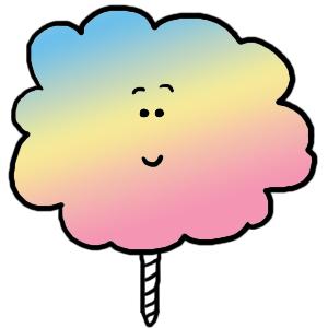 Cotton Candy Clip Art Illustration.