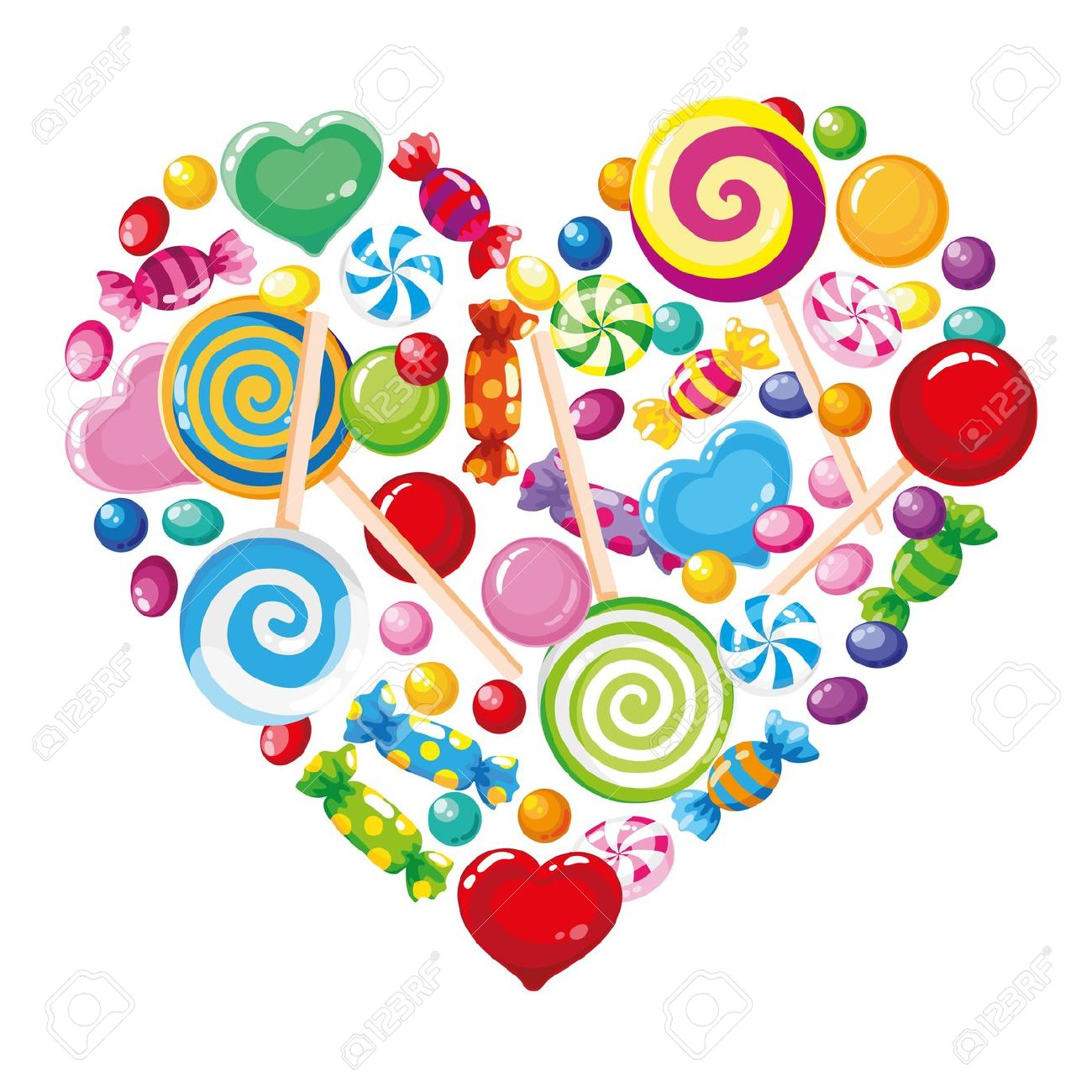 Candy clip art heart.