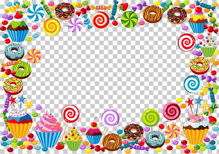 Candy cane Bonbon Gummy bear, candy border, multicolored.