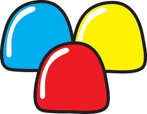 Candy Clipart Image: Gumdrops.
