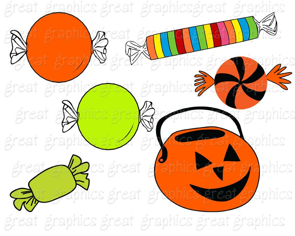 Halloween Clipart Halloween Digital Clipart Halloween Candy.