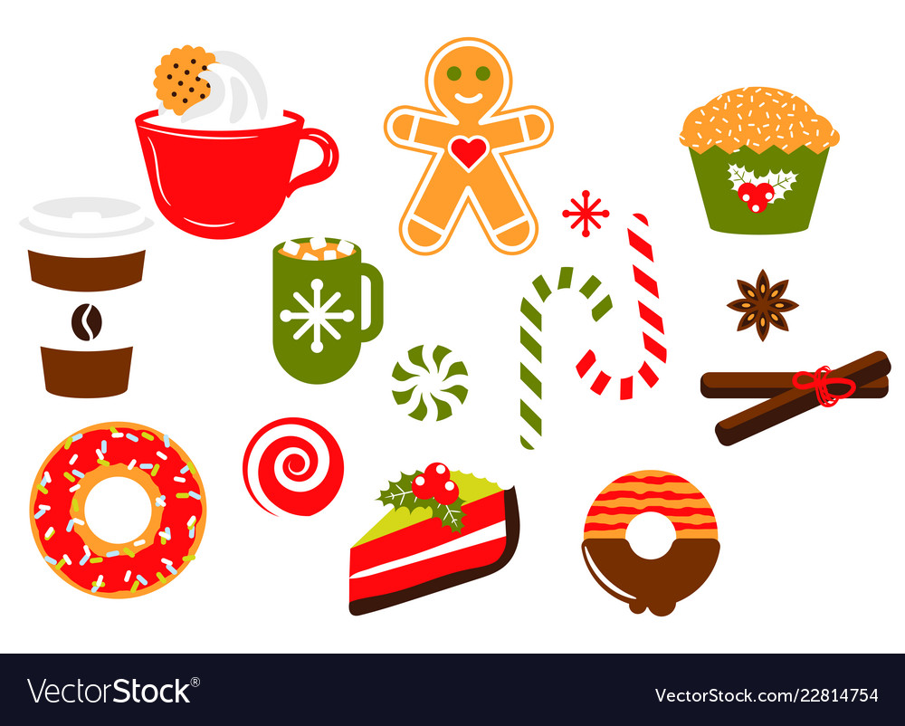 Christmas sweets candy clipart.