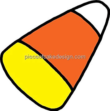 1/4 Sheet ~ Candy Corn Clip Art Birthday ~ Edible Cake/Cupcake.