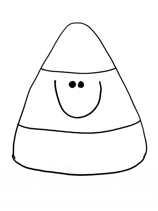 Candy Corn Clipart Black And White.
