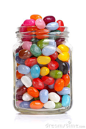 Jellybeans In A Jar Stock Images.