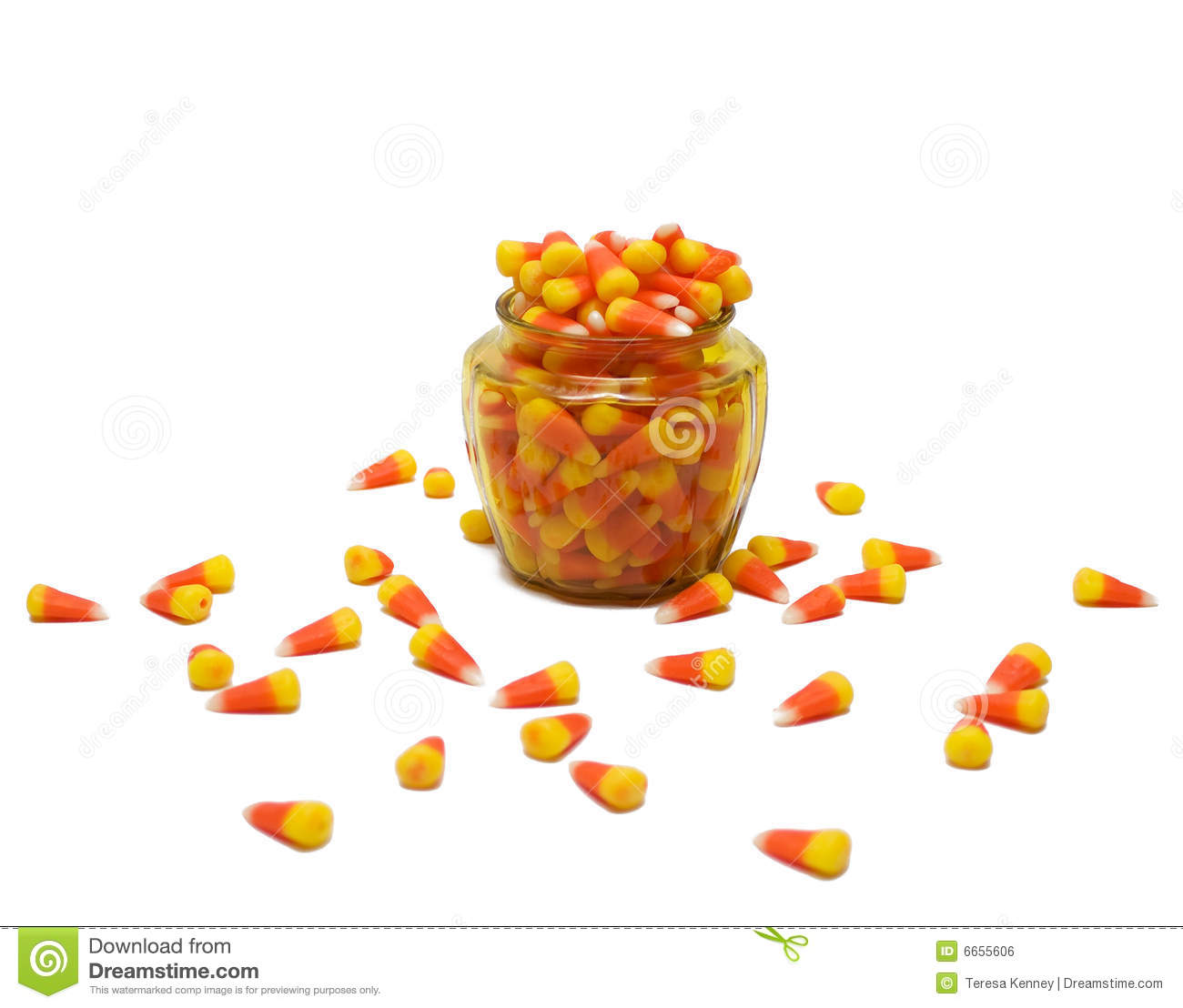 Candy corn jar clipart.