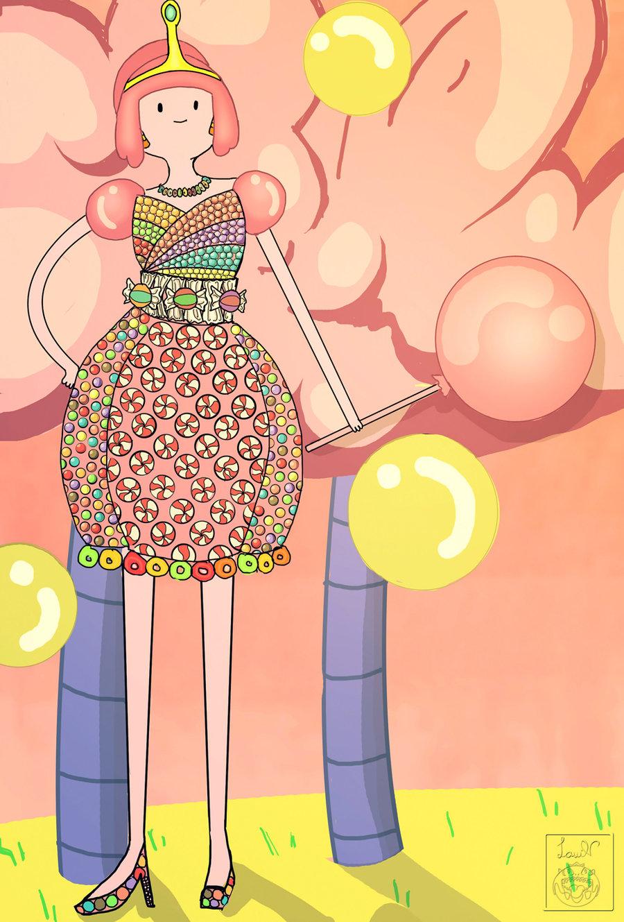 Bubblegum's Candy Dress by lavi.