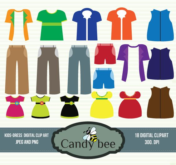 Candy Dress Clipart.
