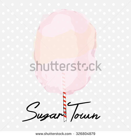 Candyfloss Sugar Love Stock Vector 328920488.