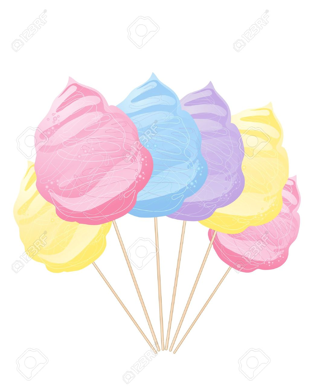 An Abstract Illustration Of A Row Of Colorful Blue Yellow Pink.