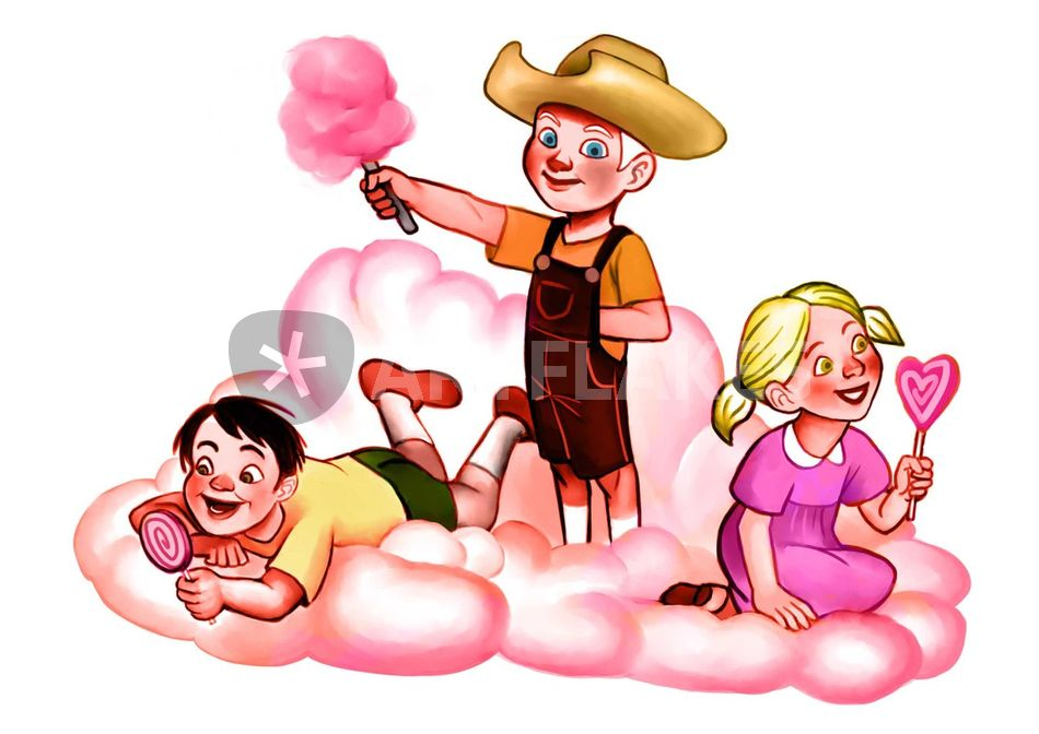 """Candy Floss Cloud"""" Drawing art prints and posters by Alexandra."""