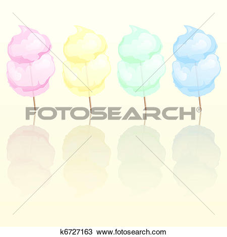 Clipart of Candy floss k6727163.