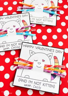 Free Printable Valentine's Day Candy Grams.