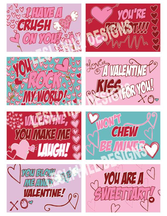 DIY Valentine's Day Candy Grams.