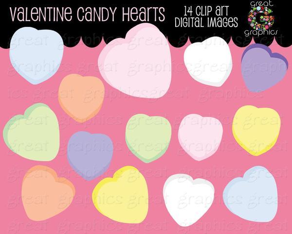 Valentine Clip Art Valentine Candy Heart Clipart Valentines Candy Clip Art  Digital Valentine Clip Art Instant Download.