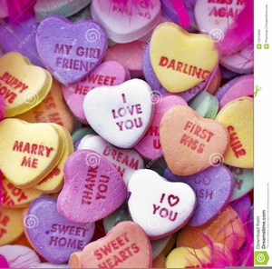 Valentine Candy Hearts Clipart.