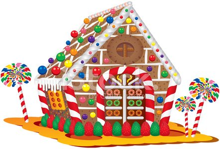 Christmas Candy House premium clipart.
