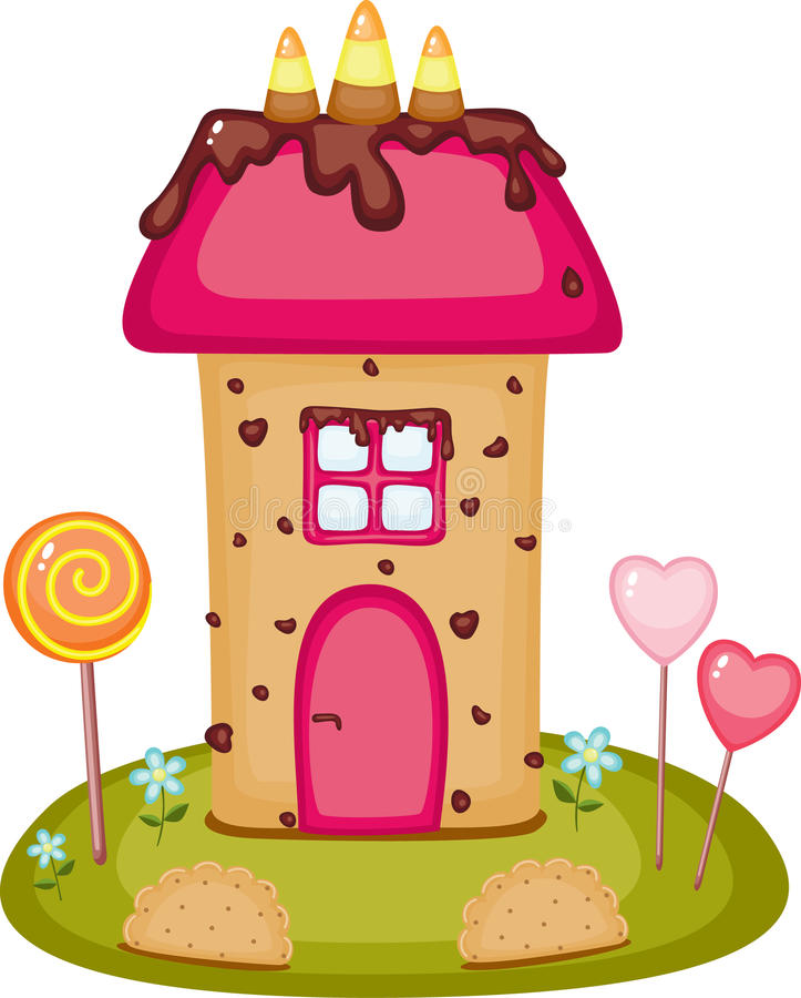 Candy House Stock Illustrations.