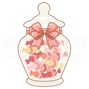 Free Clipart Of Candy Jar.