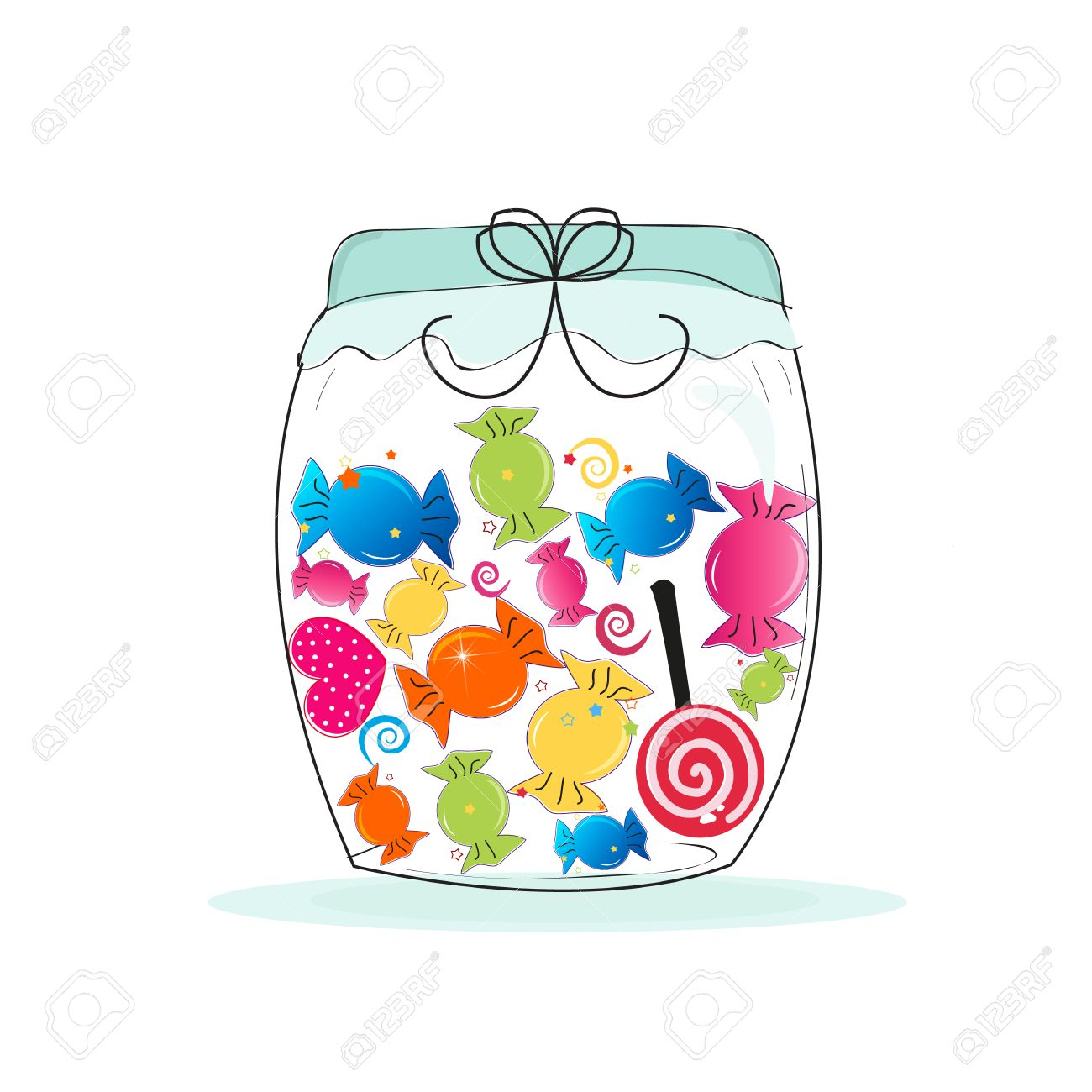 Candy jar clipart 7 » Clipart Station.