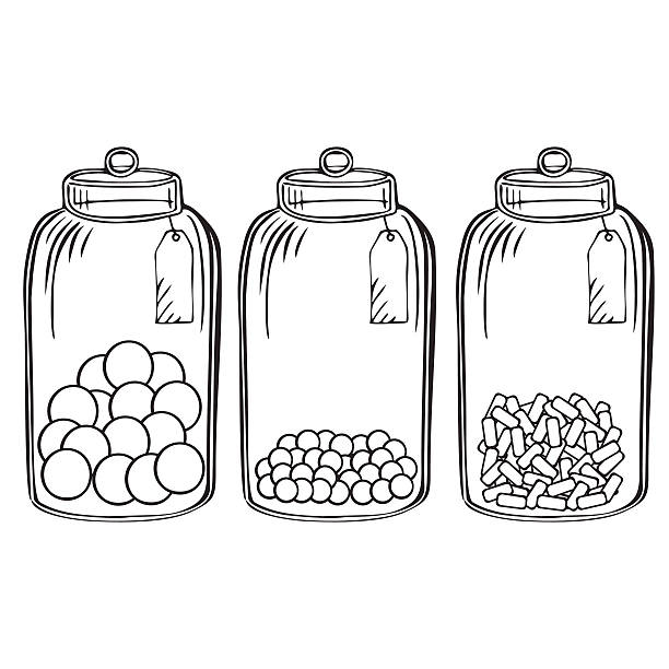 Best Candy Jar Illustrations, Royalty.