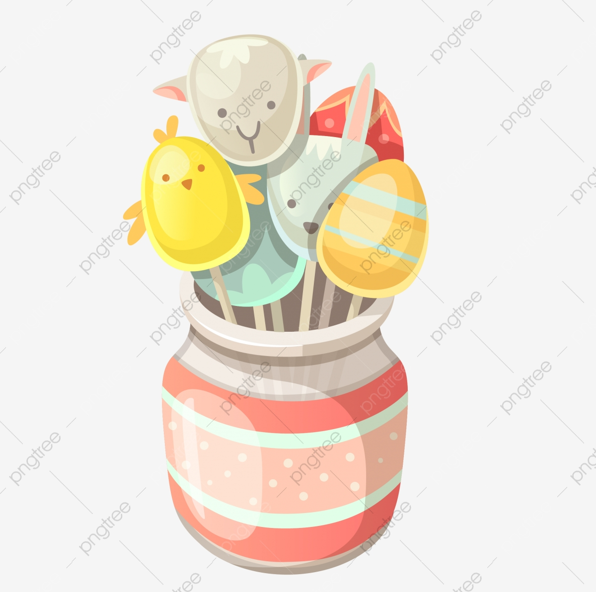 Candy Jar, Candy, Jar, Hand Painted PNG Transparent Clipart Image.