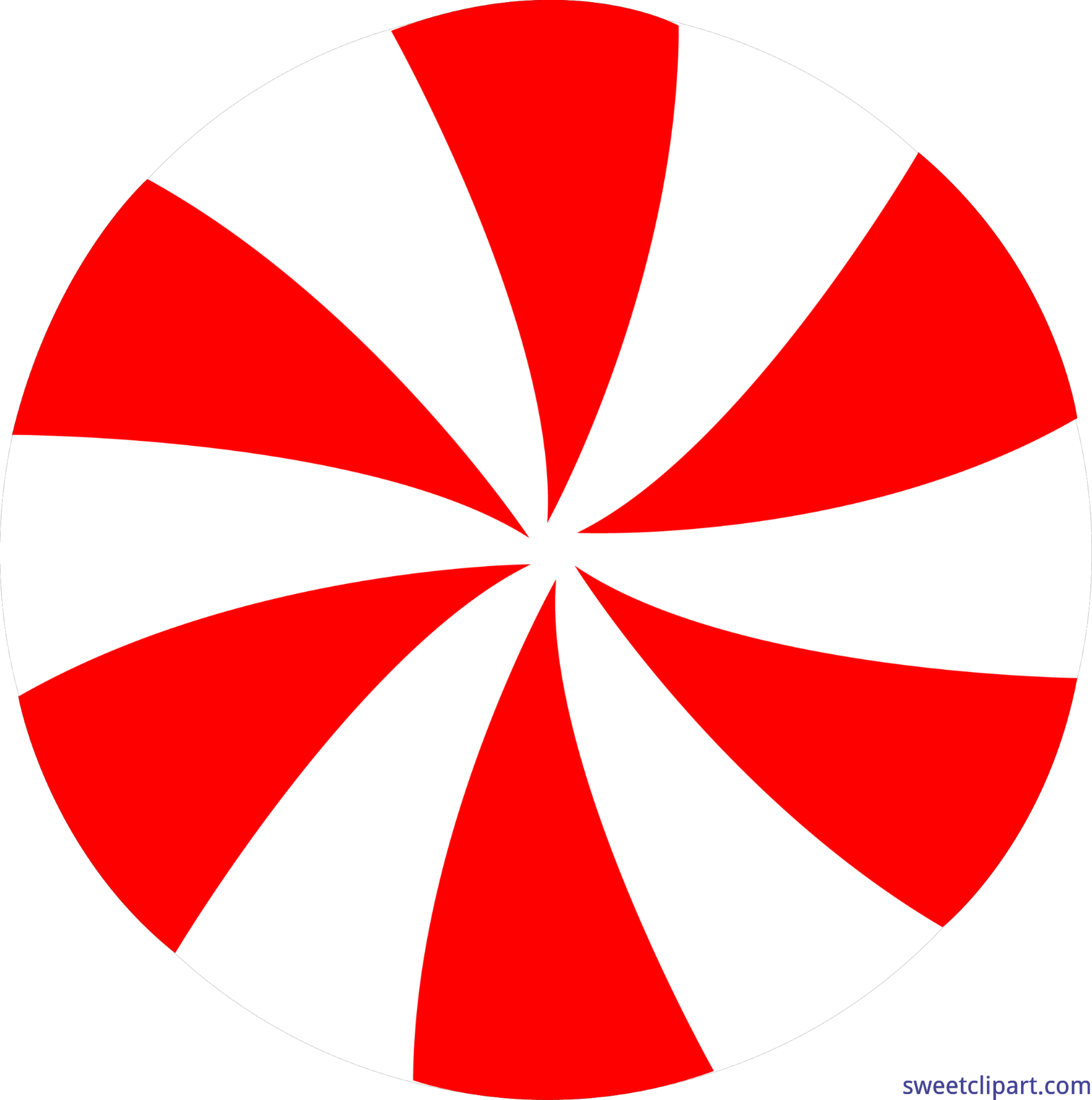 Candy Peppermint Pinwheel Red 1 Clip Art.