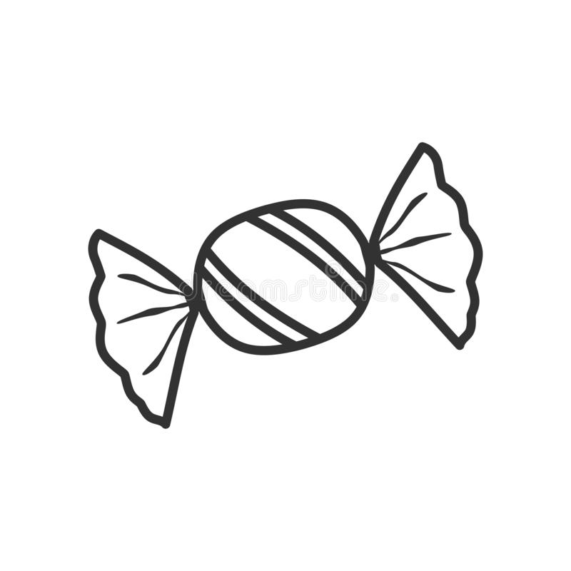Candy Outline Stock Illustrations.