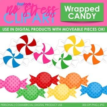 Wrapped Candy Clip Art (Digital Use Ok!).