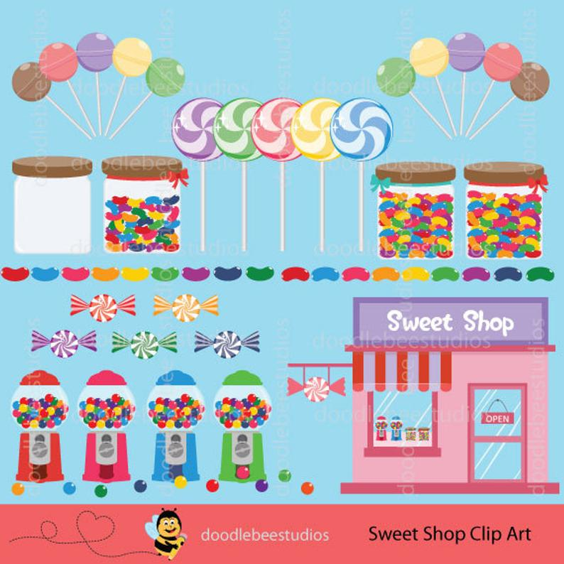 Sweet Shop Clip Art, Make Your Own Gumball Machine, Digital Candy, Candy  Clipart, Lollipop Clipart, Chupa Chup Clipart, Jellybeans Clipart.