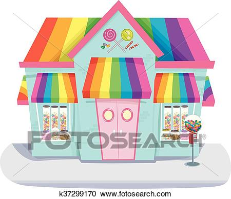Candy Store Clipart.