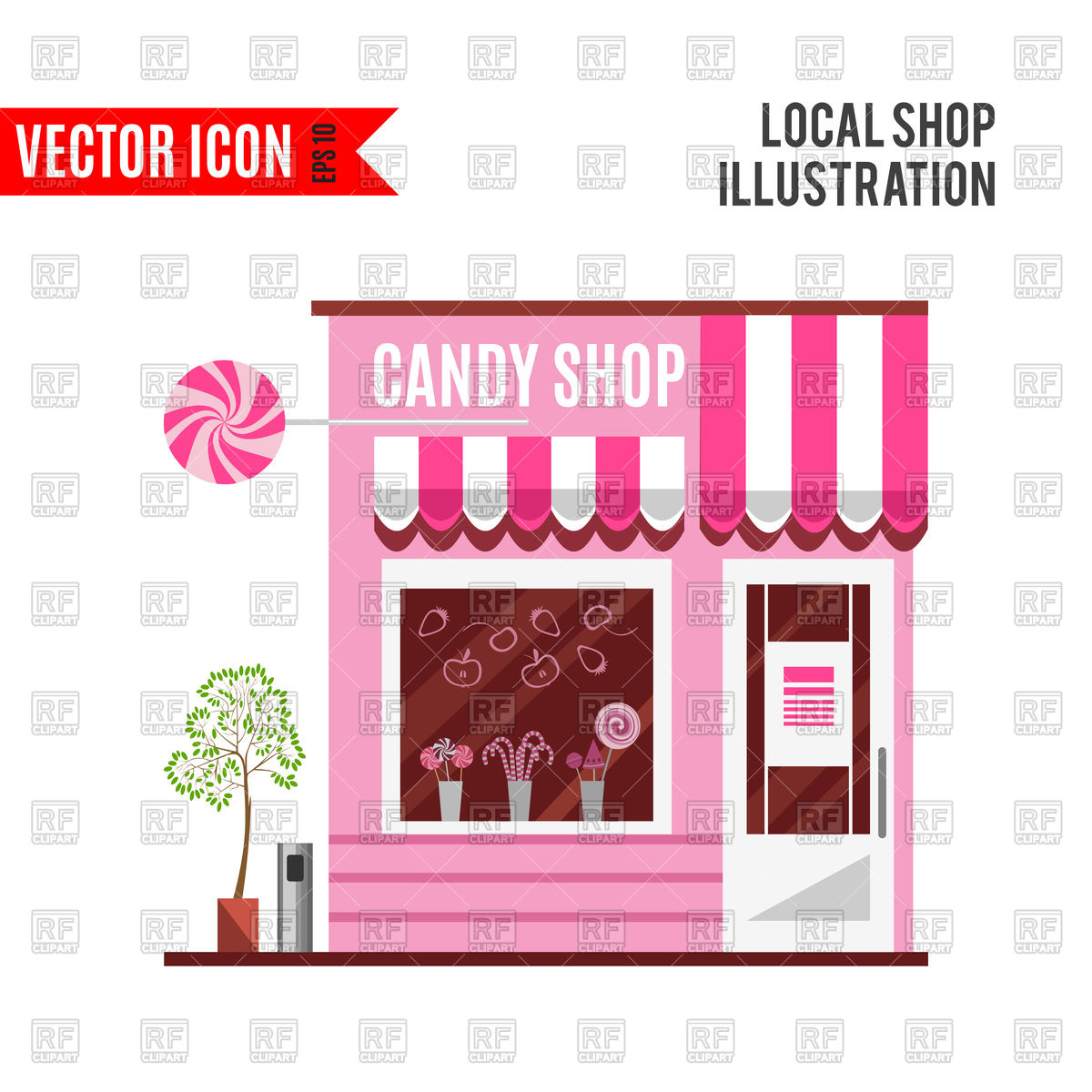 Candy shop Stock Vector Image.