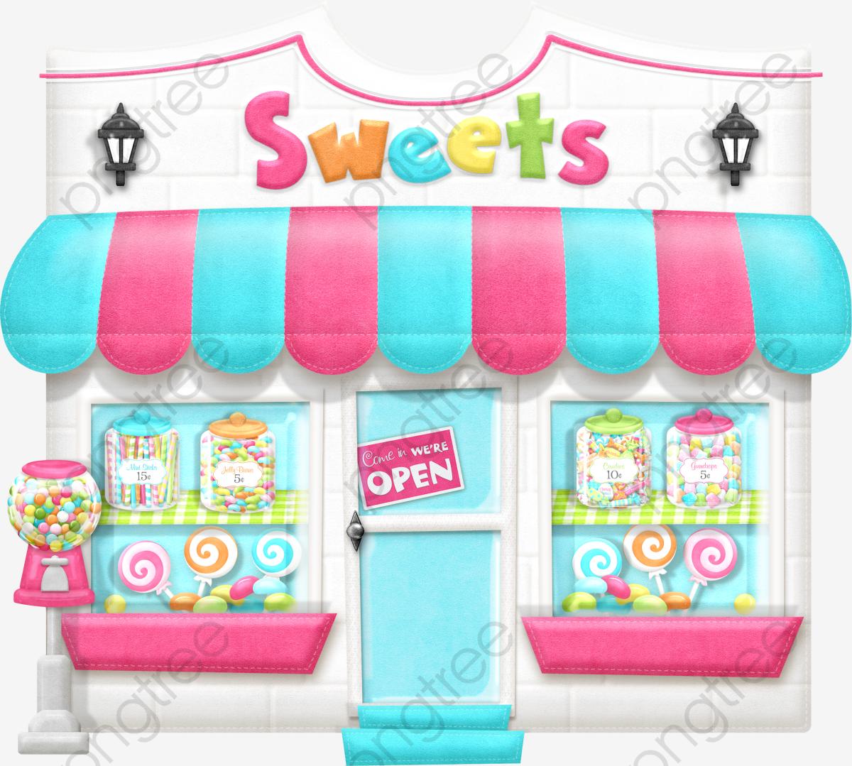 Candy Shop, Shop Clipart, Shop, Dessert PNG Transparent Image and.