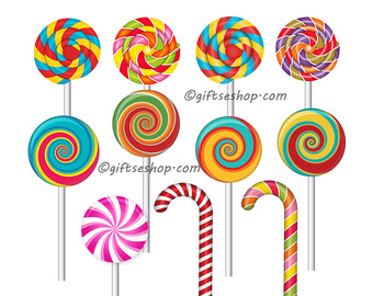 Candy cane clipart.