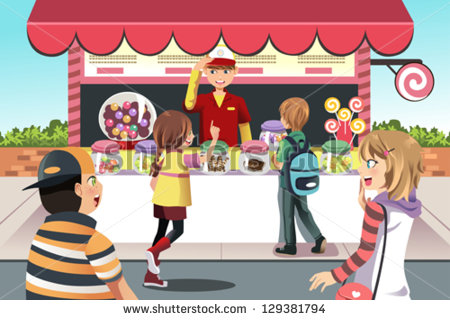 Candy Counter Clipart.