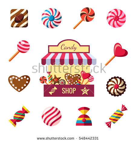 Candy Shop Stock Photos, Royalty.