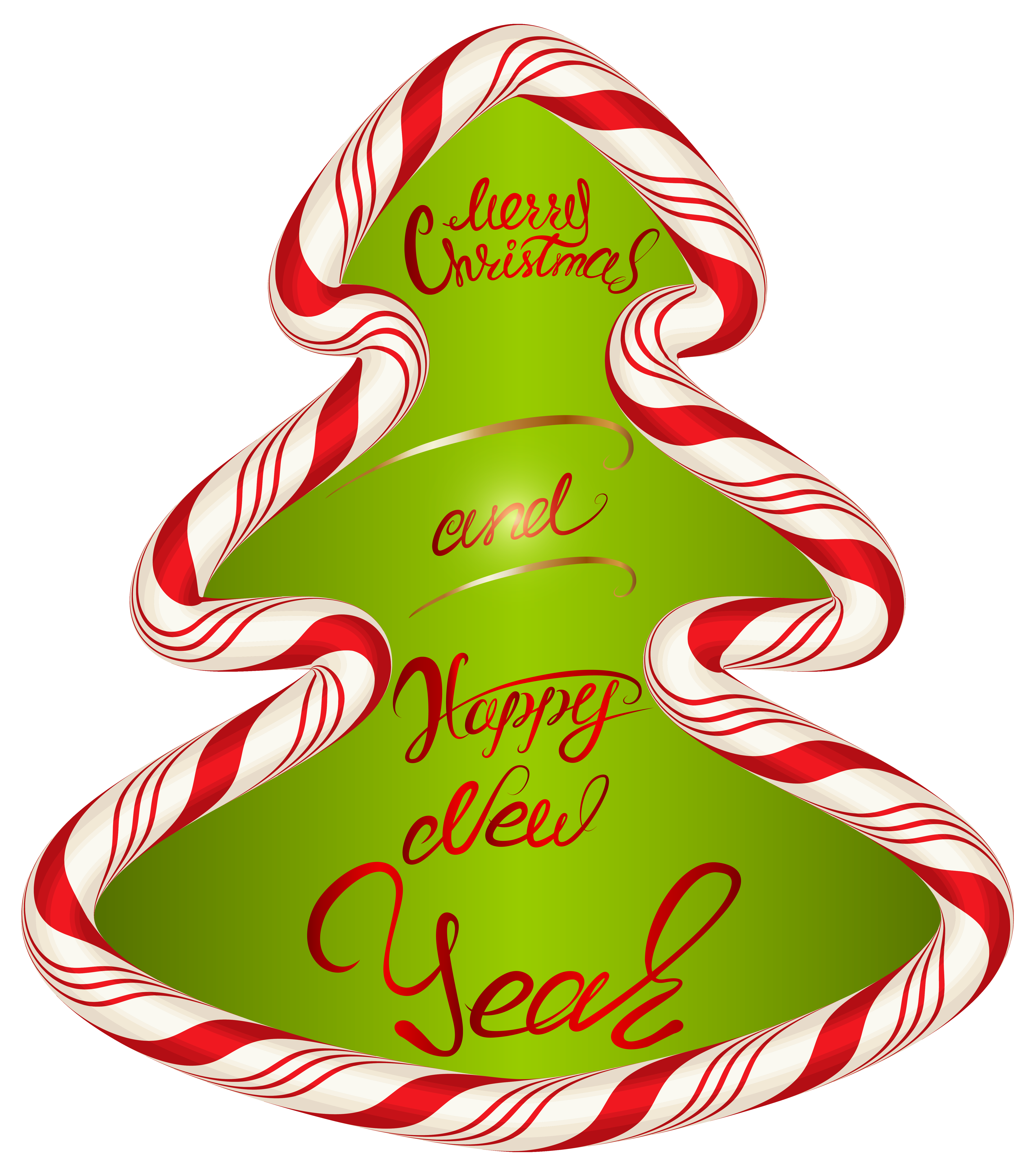 Christmas Candy Tree PNG Clipart Image.