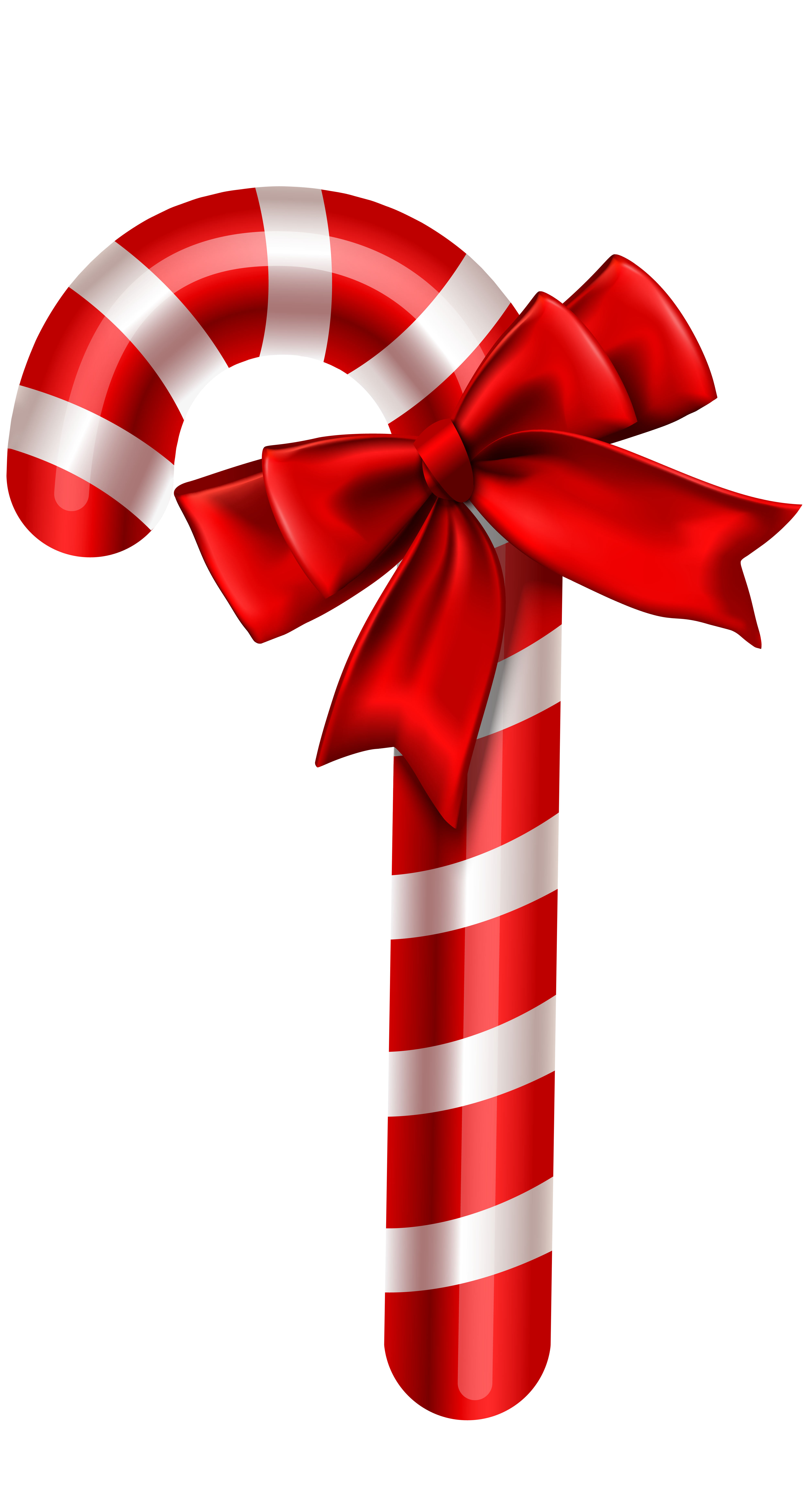 Candy Cane Christmas Ornament PNG Clipart Image.