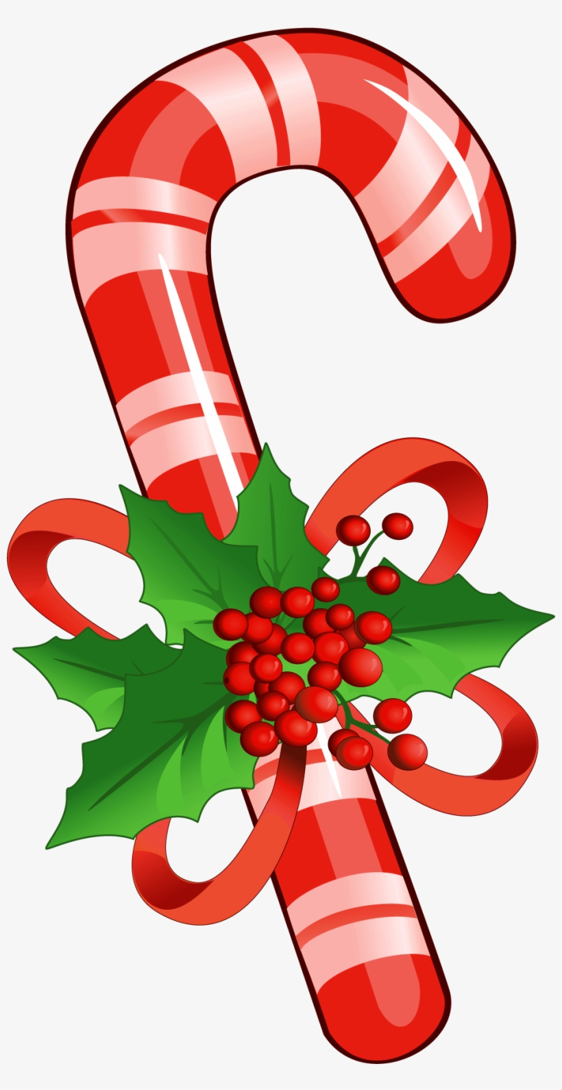 Candy Cane With Mistletoe Png Clipart Yopriceville.